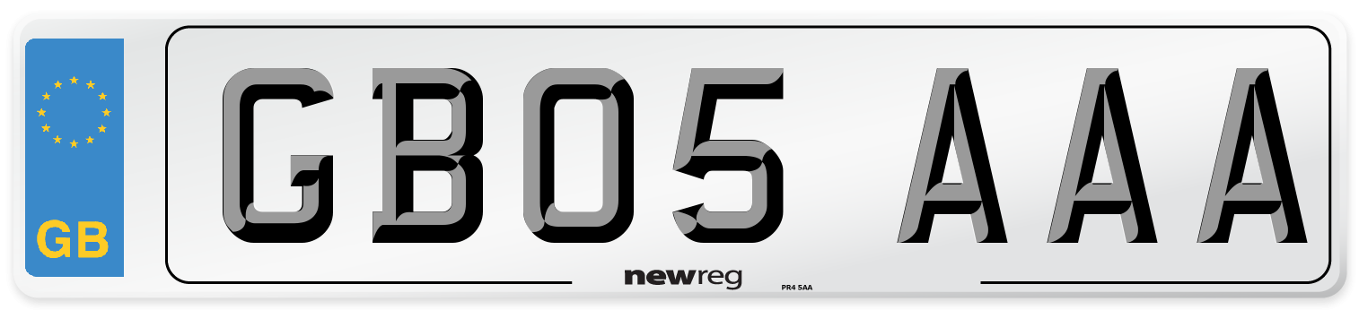 GB05 AAA Number Plate from New Reg